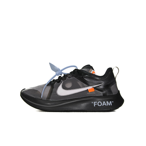 NIKE ZOOM FLY OFF WHITE BLACK SILVER
