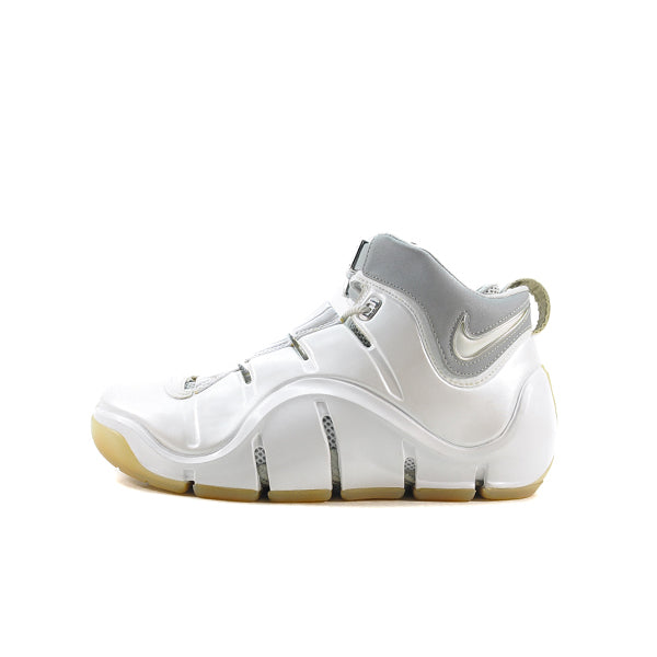 "NIKE ZOOM LEBRON 4 ""WHITE/METALLIC"""