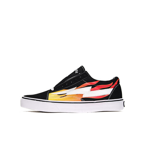 "REVENGE X STORM LOW TOP ""BLACK WITH FLAMES"" 2017"