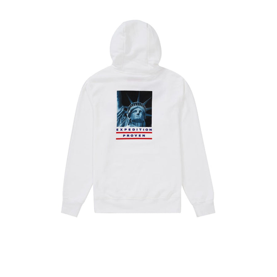 SUPREME THE NORTH FACE STATUE OF LIBERTY HOODED SWEATSHIRT WHITE FW19