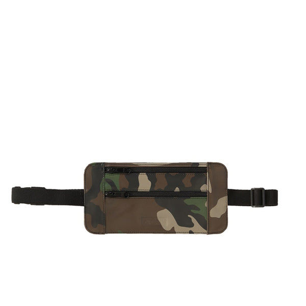 SUPREME LEATHER WAIST/SHOULDER POUCH WOODLAND CAMO SS19