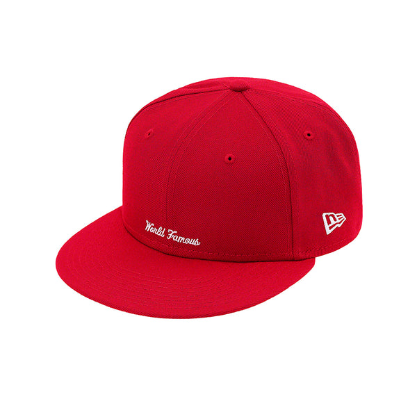 NEW ERA X SUPREME REVERSE BOX LOGO CAP RED SS21