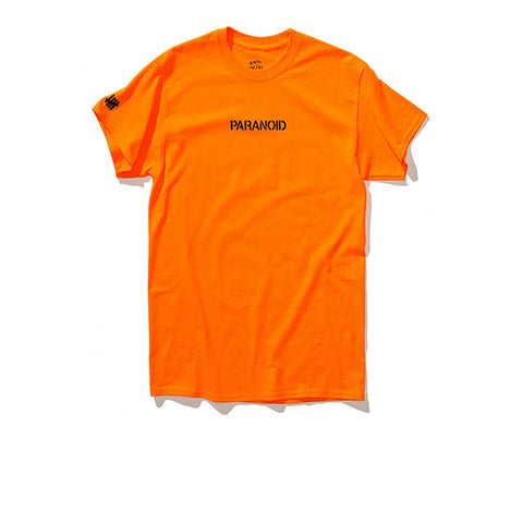 ANTI SOCIAL SOCIAL CLUB PARANOID UNDEFEATED TEE ORANGE