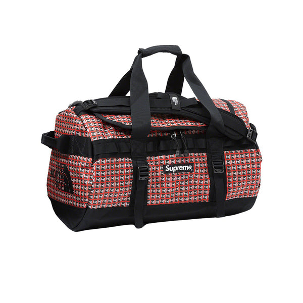 THE NORTH FACE X SUPREME STUDDED SMALL BASE CAMP DUFFLE BAG RED SS21