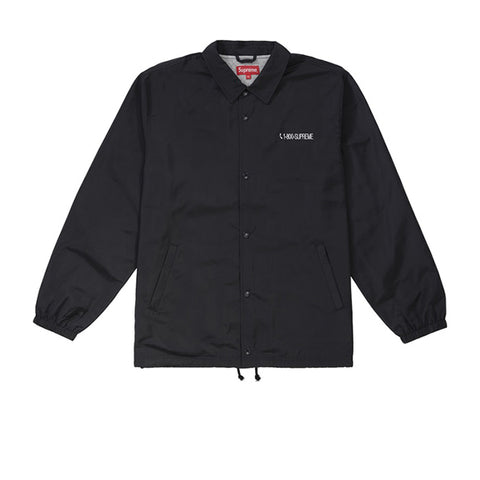 SUPREME 1-800 COACHES JACKET BLACK FW19