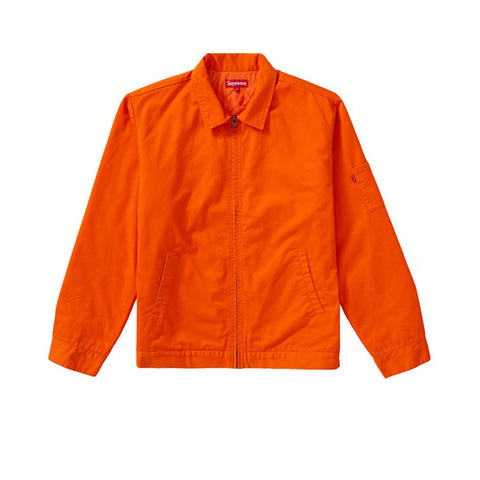 SUPREME COP CAR EMBROIDERED JACKET ORANGE FW19