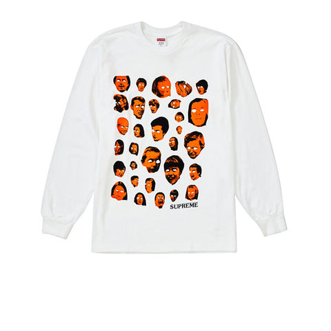 SUPREME FACES LS TEE WHITE FW19