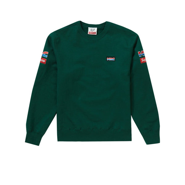 SUPREME HONDA FOX RACING CREWNECK DARK GREEN FW19