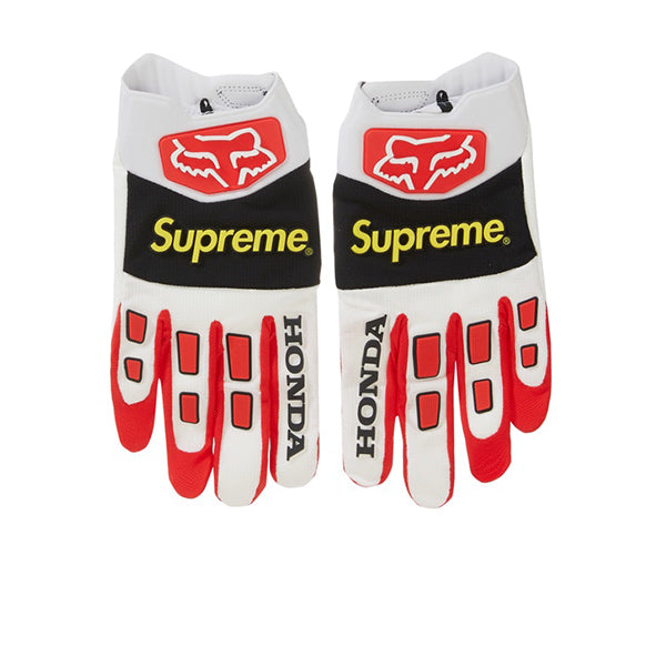 HONDA X SUPREME FOX RACING GLOVES RED FW19