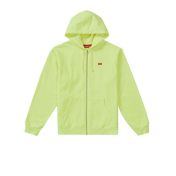 SUPREME SMALL BOX ZIP UP SWEATSHIRT BRIGHT YELLOW SS19