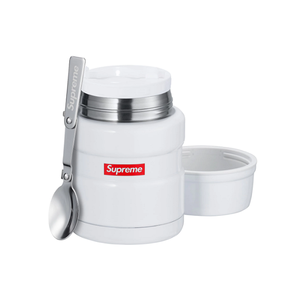 THERMOS X SUPREME FOOD JAR AND SPOON WHITE FW18