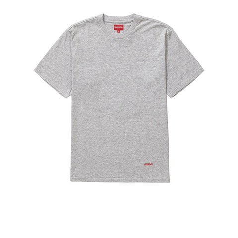 SUPREME UNIVERSITY S/S TOP HEATHER GREY FW19