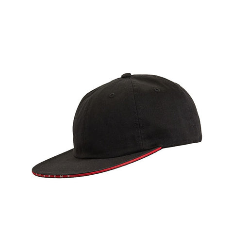 SUPREME VISOR LOGO TWILL 6-PANEL BLACK SS19