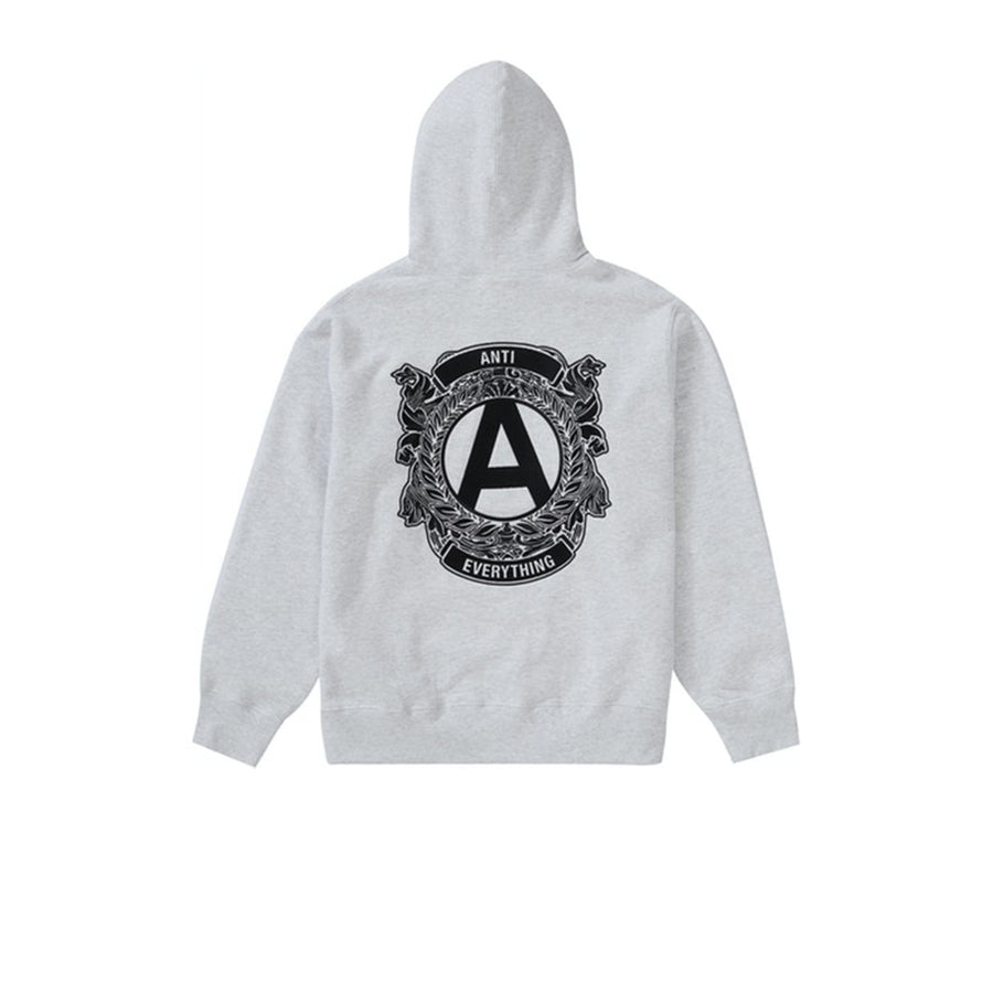SUPREME ANTI HOODED SWEATSHIRT ASH GREY FW20