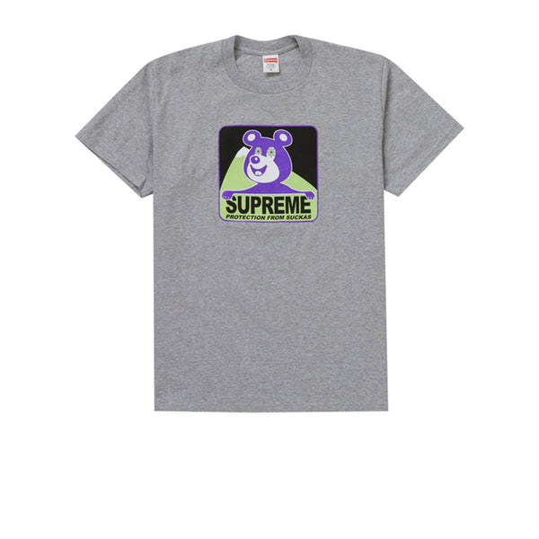 SUPREME BEAR TEE HEATHER GREY FW20