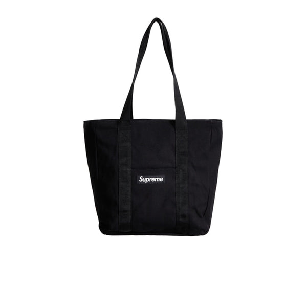 SUPREME CANVAS TOTE BLACK FW20