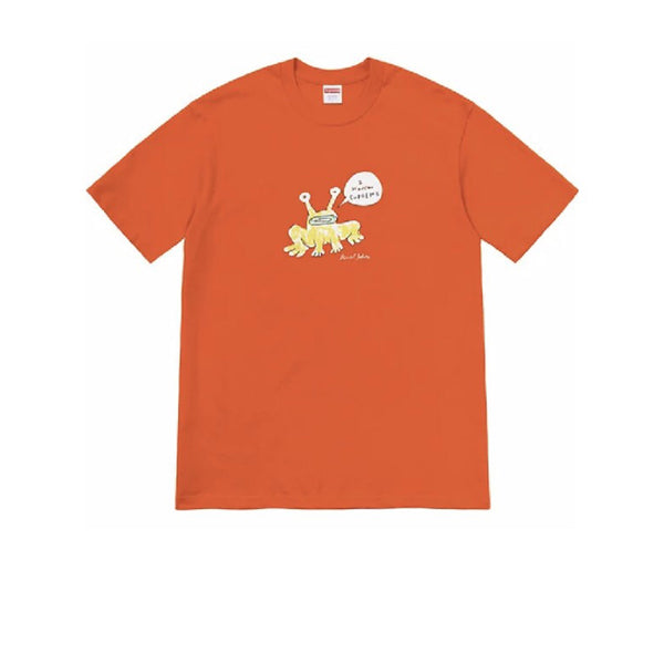 SUPREME DANIEL JOHNSTON FROG TEE ORANGE SS20