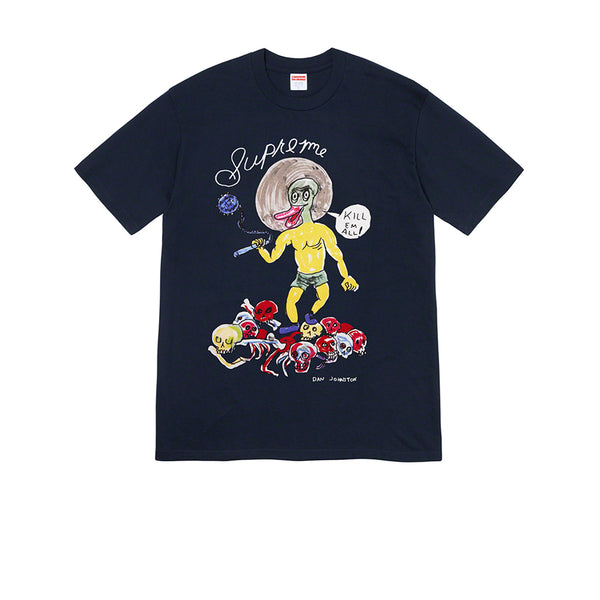 SUPREME DANIEL JOHNSTON KILL EM ALL TEE BLACK SS20