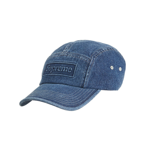 SUPREME EMBOSSED DENIM CAMP CAP BLUE SS20