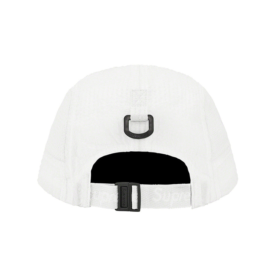 SUPREME MESH SEERSUCKER CAMP CAP WHITE SS21