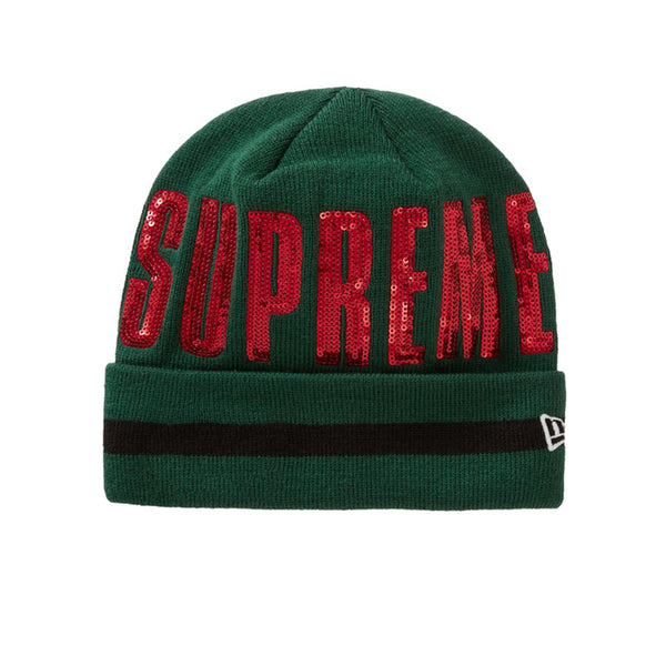 SUPREME NEW ERA SEQUIN BEANIE GREEN FW20
