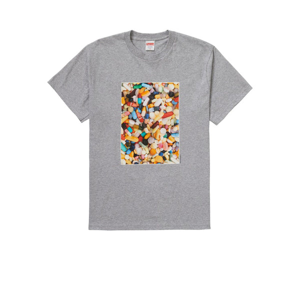 SUPREME PILLS TEE HEATHER GREY FW20