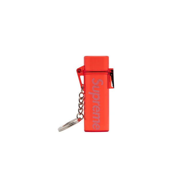 SUPREME WATERPROOF LIGHTER CASE KEYCHAIN RED SS20