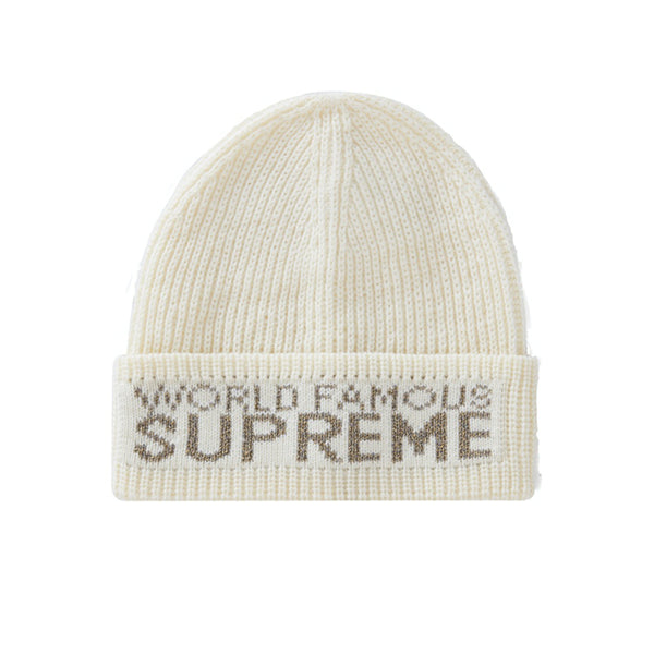 SUPREME WORLD FAMOUS BEANIE NATURAL FW20