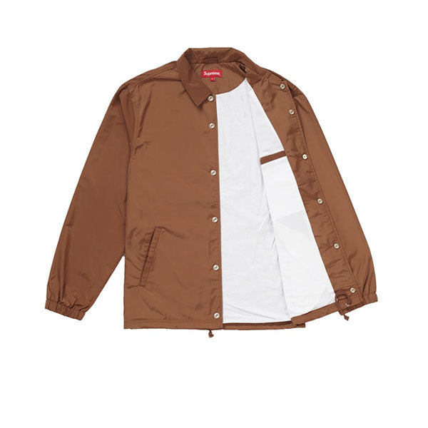 SUPREME APPLE COACHES JACKET BROWN SS19