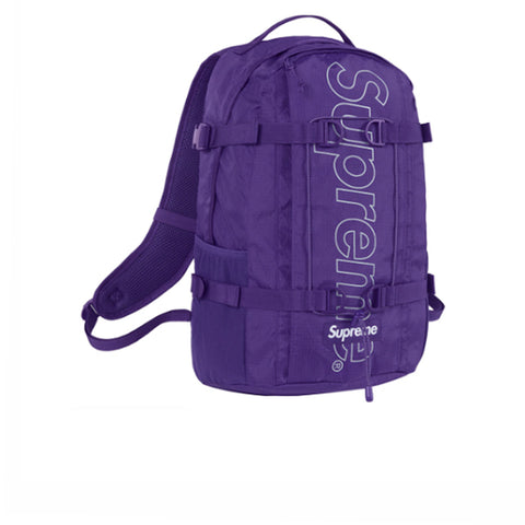 SUPREME BACKPACK PURPLE FW18