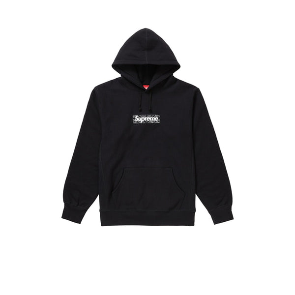 SUPREME BANDANA BOX LOGO HOODED SWEATSHIRT BLACK FW19