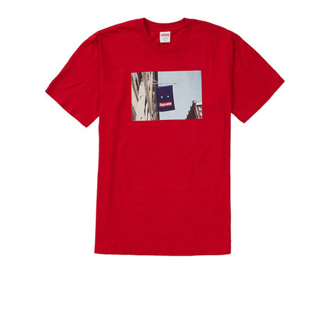 SUPREME BANNER TEE RED FW19