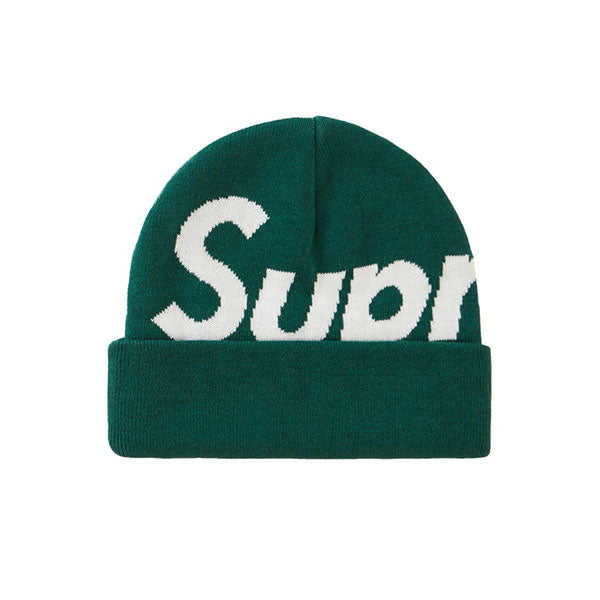 SUPREME BIG LOGO BEANIE GREEN FW19