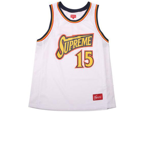 "SUPREME BOLT BASKETBALL JERSEY ""WHITE"" SS18"