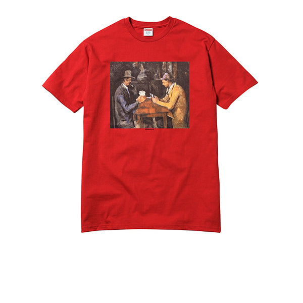 "SUPREME CARDS TEE ""RED"" SS18"
