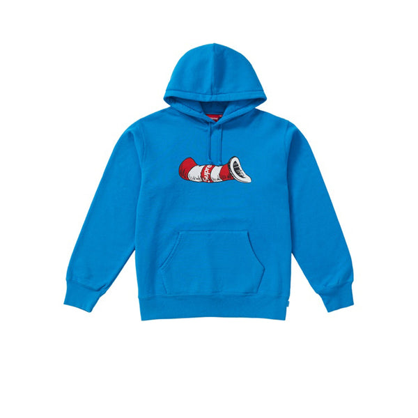 SUPREME CAT IN THE HAT HOODED SWEATSHIRT BRIGHT ROYAL FW18