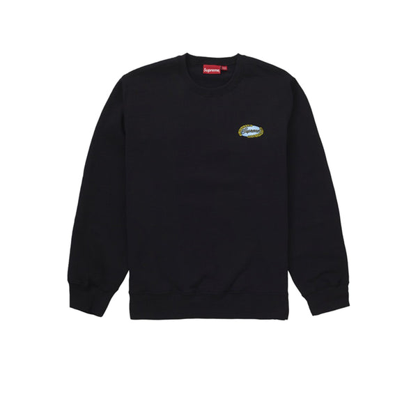 SUPREME CHAIN LOGO CREWNECK BLACK SS19