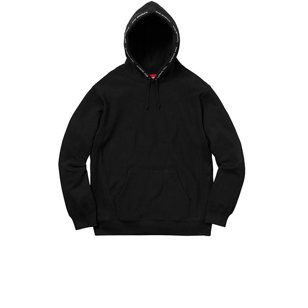 SUPREME CHANNEL HOODED SWEATSHIRT BLACK SS18