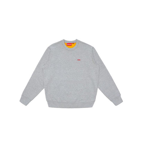 "SUPREME CONTRAST CREWNECK ""HEATHER GREY"" SS18"