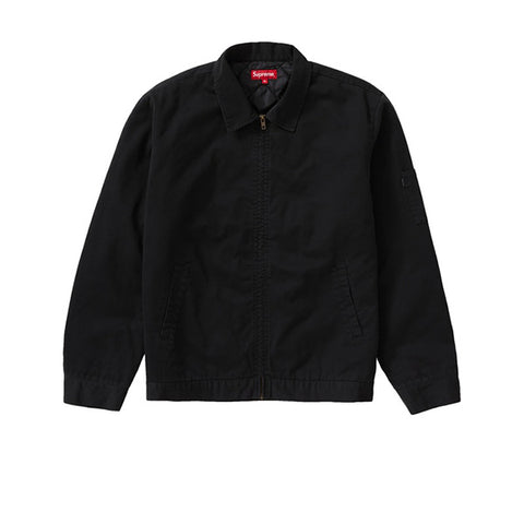 SUPREME POLICE CAR EMBROIDERED WORK JACKET BLACK FW19