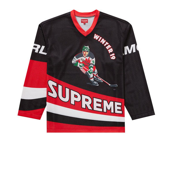 SUPREME CROSSOVER HOCKEY JERSEY BLACK FW19