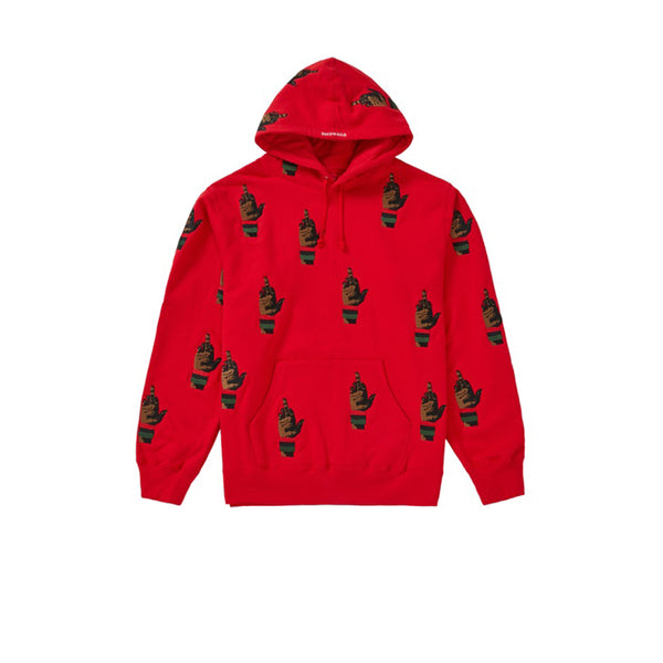 SUPREME DEAD PREZ RBG EMBROIDERED HOODED SWEATSHIRT RED FW19