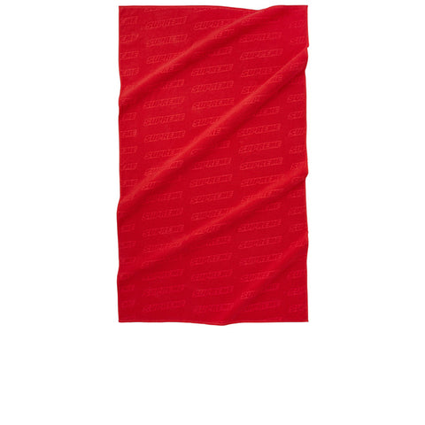 "SUPREME DEBOSSED LOGO BEACH TOWEL ""RED"" SS18"
