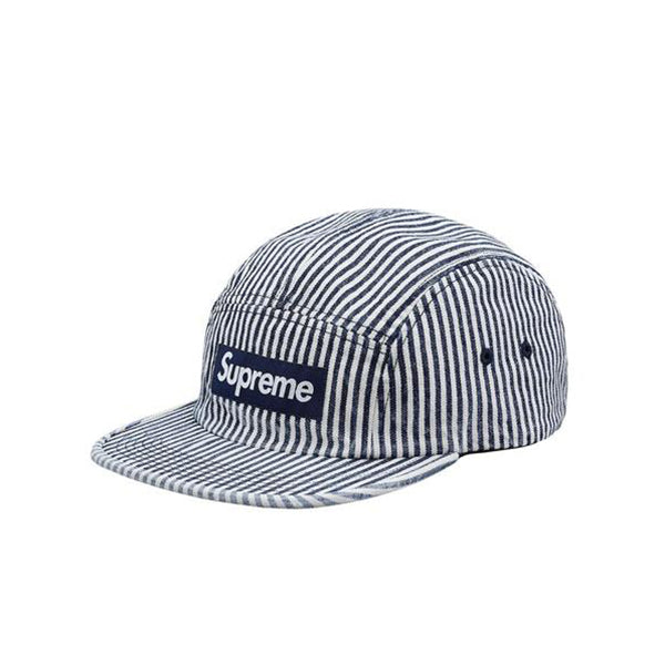 "SUPREME DENIM CAMP CAP ""INDIGO STRIPE"" SS18"