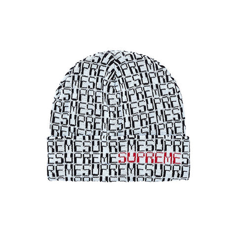 SUPREME DIGITAL BEANIE WHITE FW19