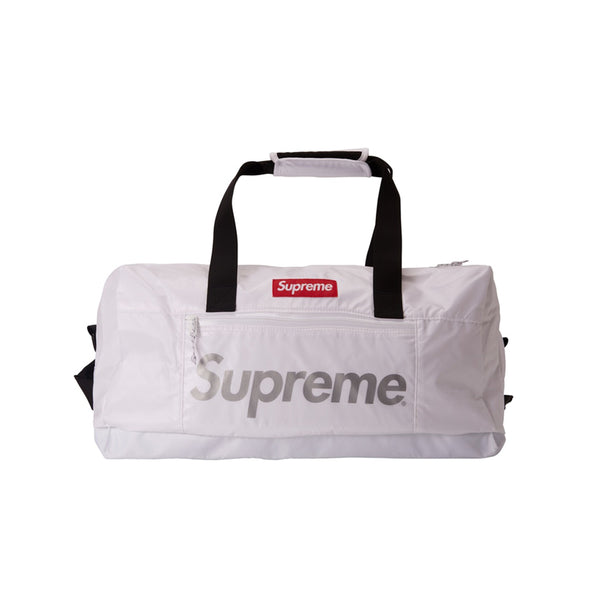 SUPREME DUFFLE BAG WHITE FW17