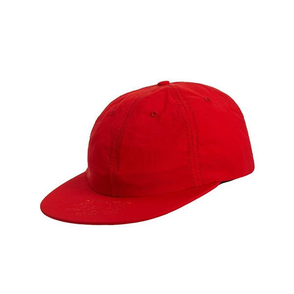 SUPREME FIRST AND BEST NYLON 6-PANEL CAP RED SS19