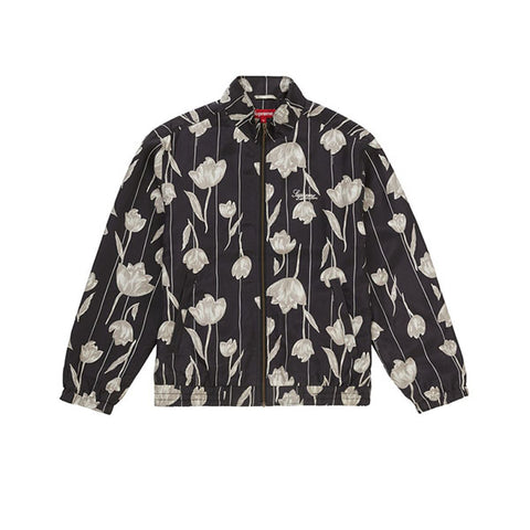 SUPREME FLORAL SILK TRACK JACKET BLACK SS19