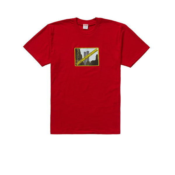 SUPREME GREETINGS TEE RED SS19