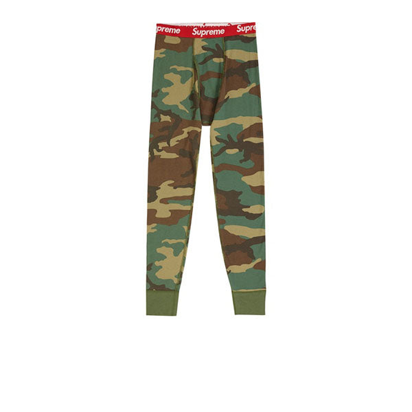 SUPREME HANES THERMAL PANT (1 PACK) WOODLAND CAMO FW19